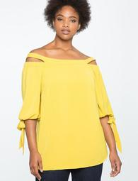 Off the Shoulder Tunic with Slit
