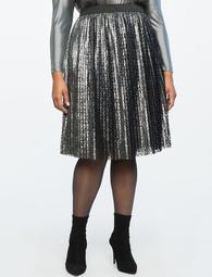 Textured Pleated Skirt
