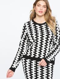 Contrast Intarsia Sweater