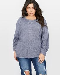 L&L Fancy Stitch Sweater with Drawcord