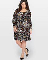L&L Long Sleeve Printed Dress