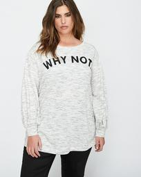 L&L Statement Sweatshirt with Lace-Up Back