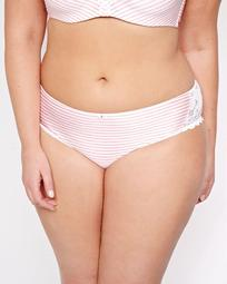 Printed Striped Panty with Lace Inserts - Déesse Collection