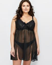 Triangle Lace Cup Chemise - Déesse Collection