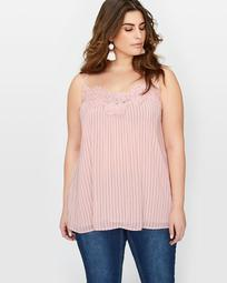 Michel Studio Printed Cami with Lace