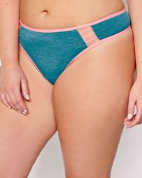 Thong with Contrast Trims and Cutouts - Déesse Collection