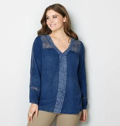 Tonal Embroidered Lace Top