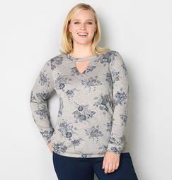 Floral Keyhole Sweatshirt
