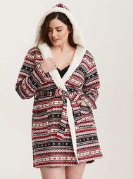 Sleep Fair Isle Fleece Robe