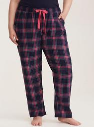 Sleep Check Print Pajama Pants