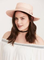 Bow Trim Boater Hat