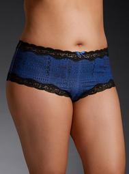 Geo Print Lace Trim Cheeky Panty