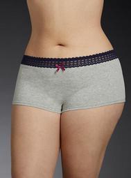 Lace Trim Boyshort Panty