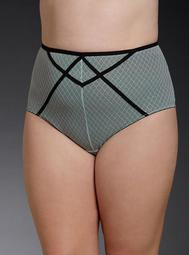 Strappy Mesh High Waist Panty