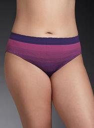 Ombré Striped Seamless Hipster Panty