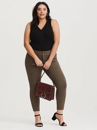 Ankle Trouser - Brown All-Nighter Ponte