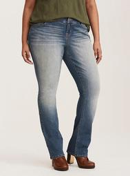 Barely Boot Jean - Light Wash with Fading