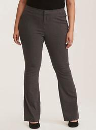 Slim Boot Pant - Charcoal Grey Deluxe Stretch