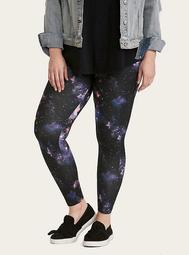 Multi-Color Galaxy Print Full Length Leggings