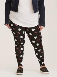 Disney Minnie Mouse Black & Red Full Length Leggings