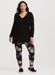 Black Floral Legging