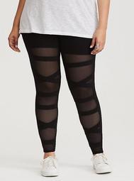 Black Mesh Bandage Legging