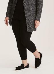 Black Cropped Premium Legging