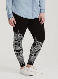 Black Cityscape Legging