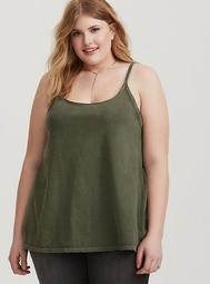 Premium Olive Scoop Neck Cami