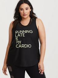 Torrid Active - Black & Neon Green Perforated Tank