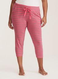 Sleep Striped Crop Pajama Pants