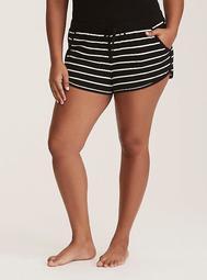 Sleep Striped Drawstring Shorts
