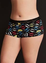 Batman Logo Print Boyshort Panty