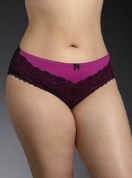 Lace Trim & Mesh Back Cheekster Panty