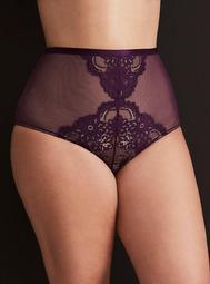 Mesh & Fancy Lace High Waist Panty