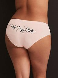 Light Pink 'Pop Fizz Clink' Seamless Hipster Panty