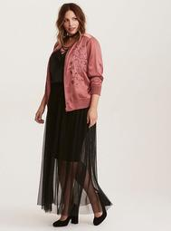 Mesh Illusion Maxi Skirt