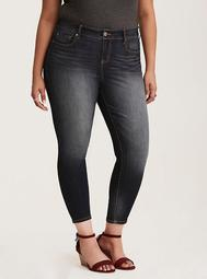 Premium Stretch High-Rise Curvy Skinny Jeans - Dark Wash
