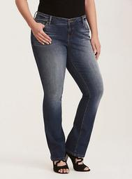 Barely Boot Jeans - Medium Wash with Whiskering