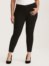 Premium Stretch High-Rise Curvy Skinny Jeans - Black Wash