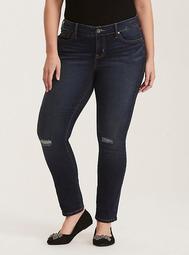 Distressed Skinny Jean - Dark Wash