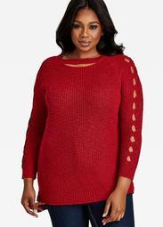Cutout Scoopneck Sweater