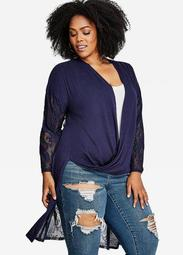 Long Sleeve Lace Duster
