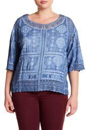 Crochet Lace Scalloped Top (Plus Size)