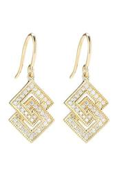 14K Yellow Gold Diamond Accented Isabelle Brook Drop Earrings - 0.26 ctw