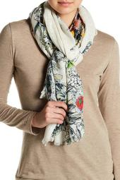 Woven Printed Embroidery Scarf
