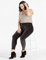 Plus Size Emma Super Skinny Jean In Black Velvet