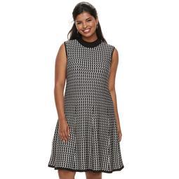 Juniors' Plus Size Candie's® Chevron A-Line Sweater Dress