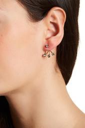 Tripod Bezel Set Crystal Jacket Earrings
