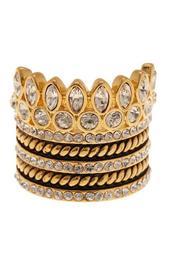Bezel Set Crystal Ring Stack